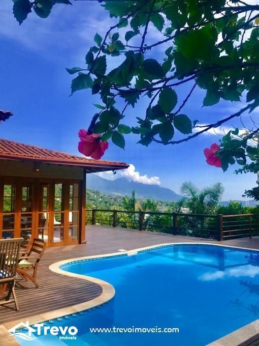 Casa de alto padrão a venda em Ilhabela com vista para o mar